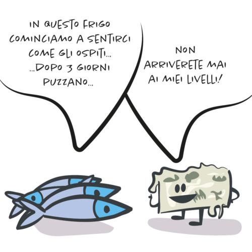 vignetta pesci formaggio